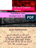 Konsep Ta'Aruf Dalam Islam