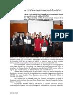 16.12.2014 Durango Va Por Certificación Internacional de Calidad