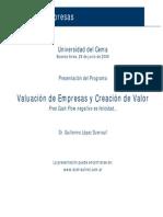 Valuación de Empresas y Creación de Valor Dumrauf