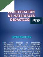 Clasificacion de Materiales Didacticos