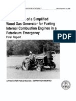 FEMA Woodgas Engine Manual
