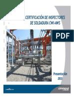 Certificacion de Inspectores de Soldadura 2015