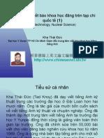 Vietnam 2.42:Tổ chức lớp viết báo khoa học đăng trên tạp chí quốc tế (1)