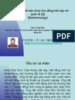 Vietnam 2.43:Tổ chức lớp viết báo khoa học đăng trên tạp chí quốc tế (2)