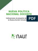 Nueva Política Nacional Docente