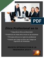 Etica Profesional en La Ingenieria