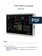 Tajima TME, TMEF User Manual