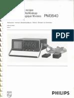 Philips Pm3540 manual