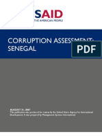 Rapport USAID corruption au Sénégal