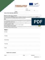 M1 2.2 F2 Internship Logbook & Assessment Form (Example Belgium)