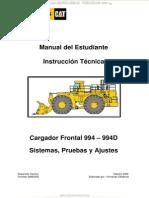 Manual Cargador Frontal 994 994d Caterpillar Sistemas Pruebas Ajustes