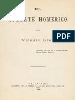 El Combate Homérico - Vicente Grez