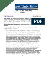 cgs1060 syllabus fall w 2015