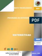 Programa Algebra Bachillerato General