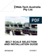 Belt Scale Selection Installation Guide