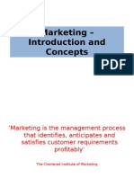 Marketing – Introduction and Concepts