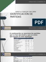 Identificacion de Partidas