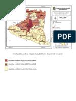 Peta Kepadatan Penduduk Kabupaten Gunungkidul
