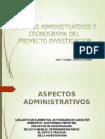 Aspectos Administrativos Del Proyecto Investigacion