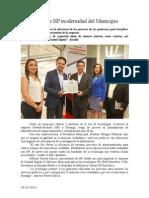 03.10.2014 Reconoce HP Modernidad Del Municipio