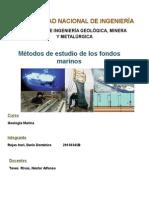 Métodos de Estudio de Los Fondos Marinos