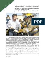 05.10.2014 Invita Esteban a Primera Expo Protección y Seguridad