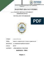 MANUAL DE  ADMINISTRACIÓN Y TEORIAS DE ADMINISTRACIÓN