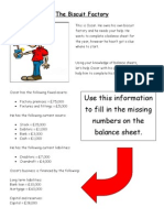 The Biscuit Factory Balance Sheet Activity for Lesson 3