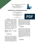 INFORME INTRODUCCION A LA PROGRAMACION EN VHDL