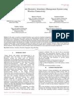 Development of Fingerprint Biometric Attendance Management System Using Wireless Connectivity