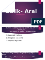 Balik- Aral (Simuno at Panaguri, Uri Ng Pangungusap Ayon Sa Gamit)