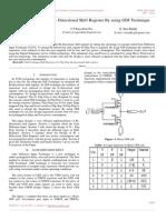 Low Power Design Bi – Directional Shift Register by Using GDI Technique