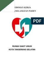Program Kerja Keselamatan Pasien Rsu Tangsel