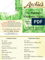 St Patricks March 10