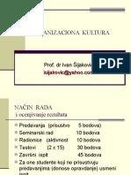 ORGANIZACIONA KULTURA - Karakteristike i elementi OK