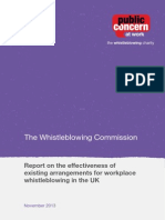Whistleblowing Commission Report Final