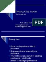 ORGANIZACIONA KULTURA - UPRAVLJANJE TIMOM