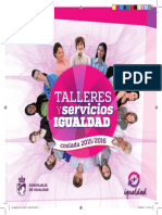 Talleres y Servicios Concejalía de Igualdad del Ayuntamiento de Coslada 2015/2016