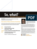Adam Kahane So What Lecture Flyer