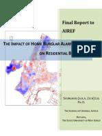 Impact of home burglar alarm systems