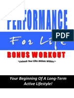 Performance for Life Free Bonus Workout
