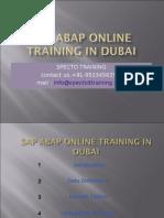 Sap Abap Online Training in Dubai