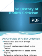 The Criticism of Hadith Jonathan Brown