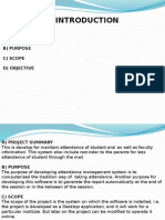 Presentation on attendance management
