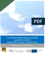 Lanaren prekarizazioari aurre egiten.  Praktika onak (Alemania)