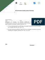 Declaratie Evitare Dubla Finantare