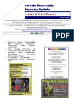 October Reminders and New Events 2009
