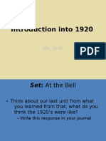 Introduction Into 1920