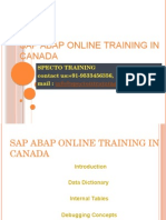 Sap Abap Online Training in Canada