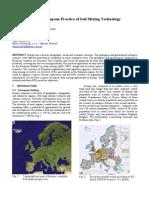2005 Regional Report Europe soil mixing